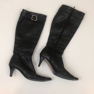 COACH Adriana boot black leather made in Italy 9.5